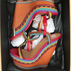 DSquare2 high wedge platform heels size 9